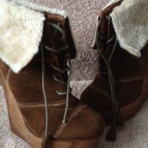 Cute lace up booties